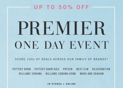 West Elm Premium Event Offers - Spend 100 AED and Save 25 AED Off Your Purchase!! Valid Till 2 June 2018