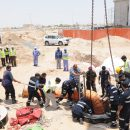 A Worker rescued from Construction Site Hole in UAE