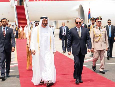 H.H Mohammad Bin Zayed meets Al Sissi in Cairo