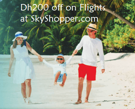 Dh 200 Discount on Flights at SkyShopper.com