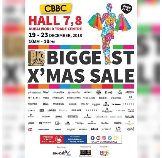 5-Day Super Christmas Sale in Dubai 19th to 23rd December 2018