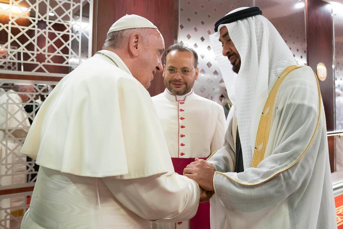 Abu Dhabi announced road closures for Pope