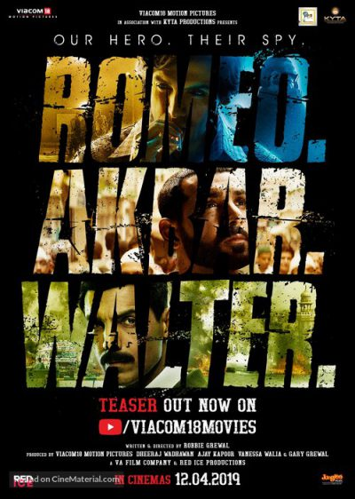 ROMEO AKBAR WALTER (RAW)- Hindi  Movie in Abu Dhabi