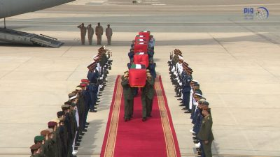 Bodies of six martyred servicemen arrive in UAE