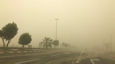 UAE Police warn to Reduce speed to 80kmph during fog