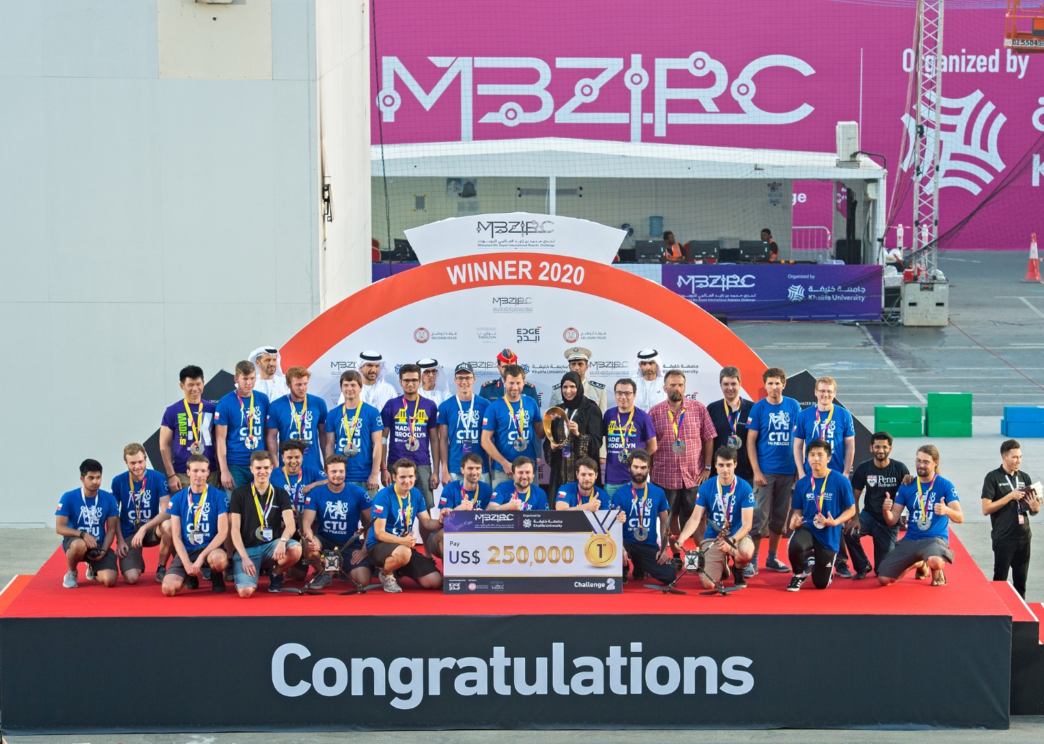 Czech, Pennsylvania, NYU team win robotics challenge in Abu Dhabi
